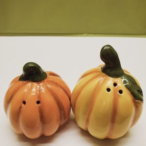 Fall Pumpkin Salt& Pepper Shakers
